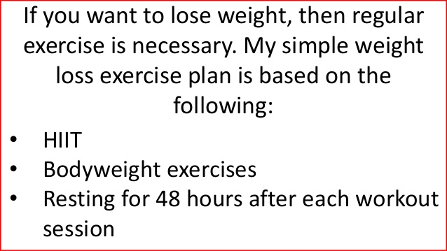 The Exercise Routine For Weight Loss 45