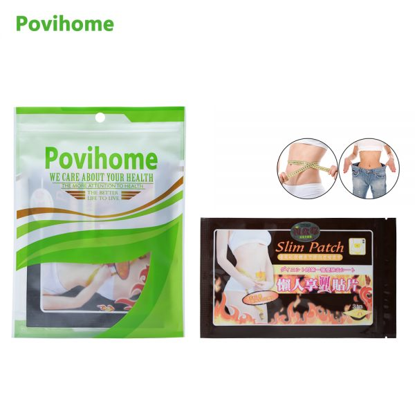 Povihome 10Pcs Slimming Navel Stick Patches