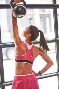 Simple exercises for losing weight with kettlebells