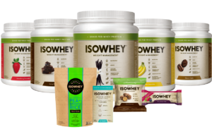 IsoWhey cheap meal replacement shakes with various flavors