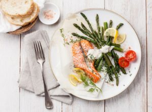 Salmon and vegetables are top weight loss foods