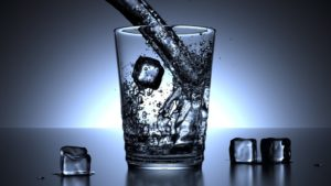 Alkaline Water With Ice Cubes