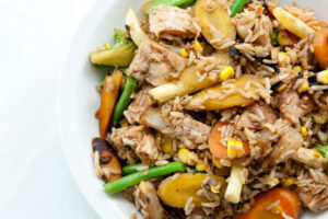Chicken Stir-Fry with Brown Rice and Veggies