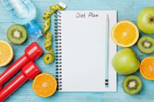 A healthy diet plan is essential for slimming down