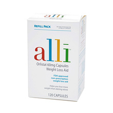 Alli over the counter weight loss supplement