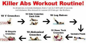 workout routine to lose weight 7