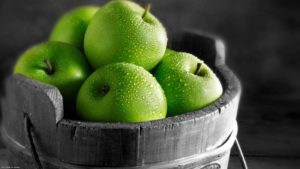 Large green apples