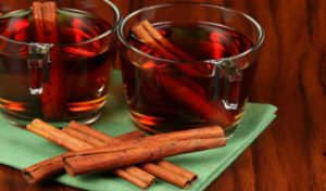 Warm cinnamon tea will help you to relax!