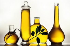 Extra virgin olive oil bottles
