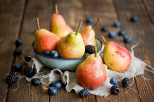 Delicious pears and berries